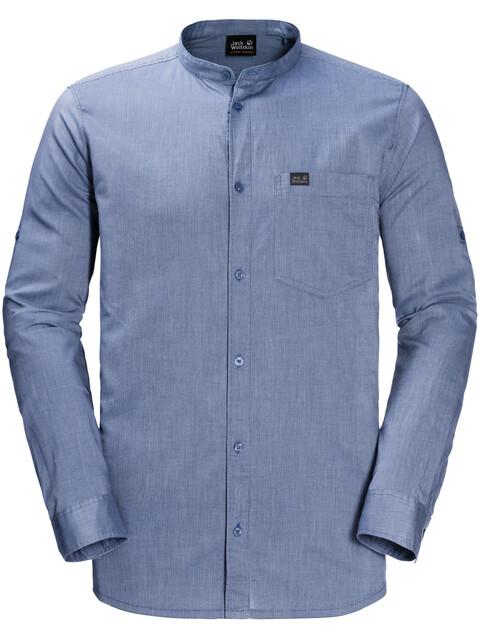 Jack Wolfskin Indian Springs - T-shirt manches longues Homme - bleu